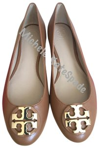 Tory Burch Claire Ballet Brown Flats