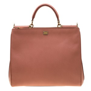 Dolce&Gabbana Leather Fabric Tote in Peach - item med img