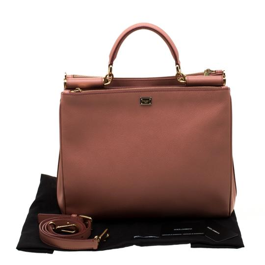 Dolce&Gabbana Leather Fabric Tote in Peach Image 10