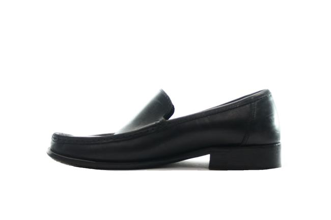 Coach Black Leather Loafers Flats Size