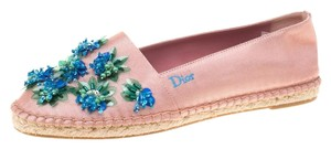 Dior Leather Rubber Pink Flats