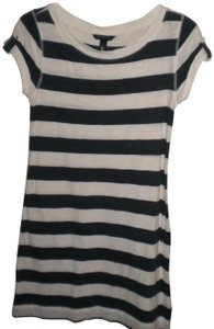 Navy/White Maxi Dress by Banana Republic Stripe Navy/White Short Sleeve Cotton