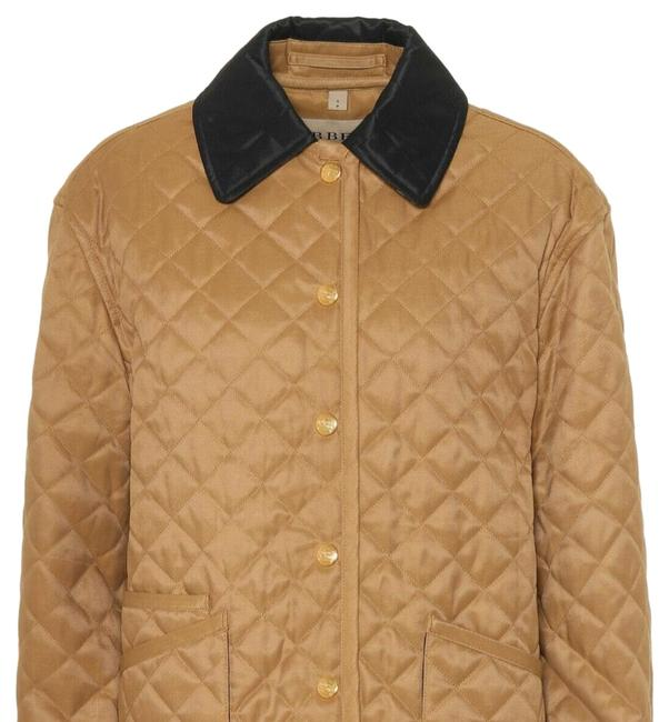 Item - Camel XL Button-front Long-sleeve Diamond-quilted Barn Jacket Size OS (one size)