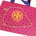 Tory Burch Brand New Tory Burch Delicate GOLD Logo Pendant Necklace Image 5