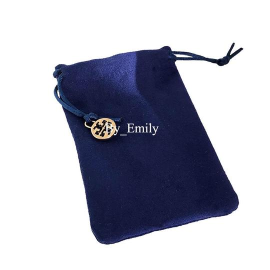 Tory Burch Brand New Tory Burch Delicate GOLD Logo Pendant Necklace Image 6