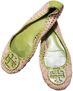 Tory Burch Lime Green/Beige Flats