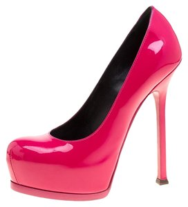 Saint Laurent Leather Platform Pink Pumps
