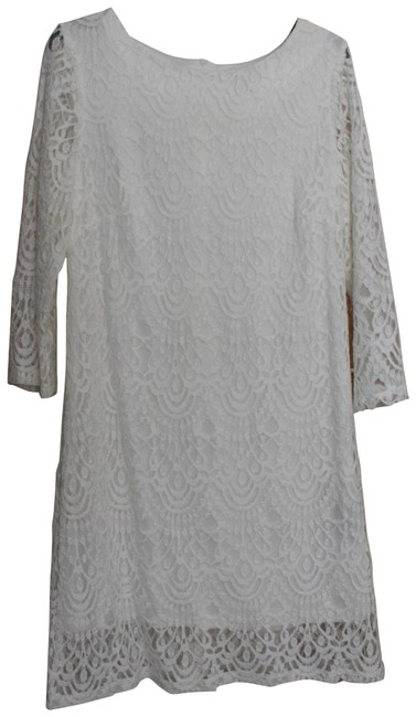 Item - White Rn Studio By Lace Mid-length Formal Dress Size 10 (M)