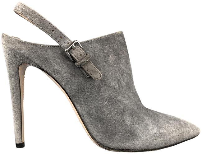 Item - Gray Suede Sling Back Mule Boots/Booties Size US 7.5 Regular (M, B)