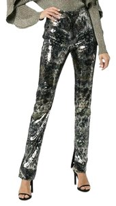 MARY KATRANTZOU Skinny Pants Gold / Silver