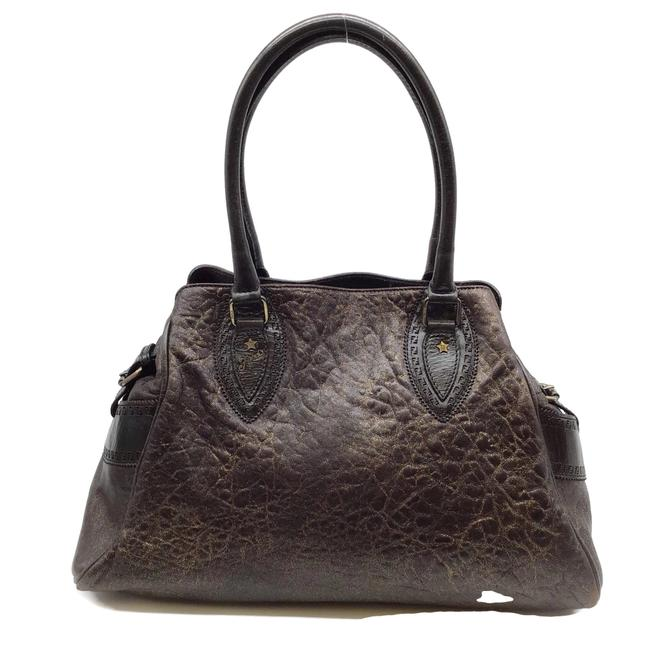 Item - Distressed Brown/Gold Leather Tote