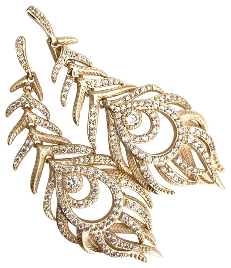 Preload https://img-static.tradesy.com/item/25929615/kendra-scott-gold-elletra-feather-shape-drop-earrings-0-3-540-540.jpg