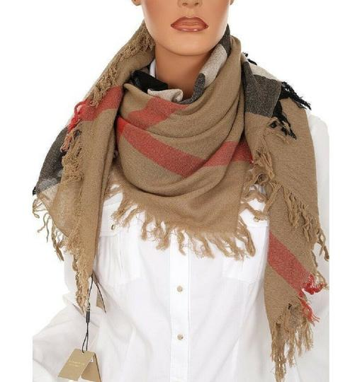 Burberry Burberry Women's Camel Signature House Check Wool Scarf 38414031 Image 7