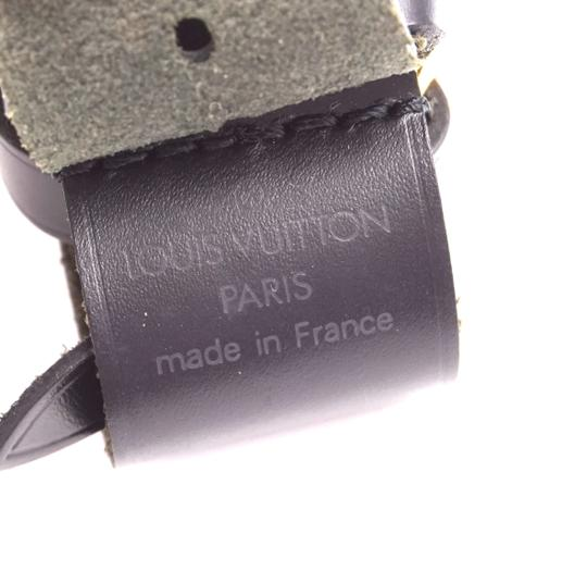 Louis Vuitton Discontinued smooth calf Leather small Luggage Tag and Loop Image 3
