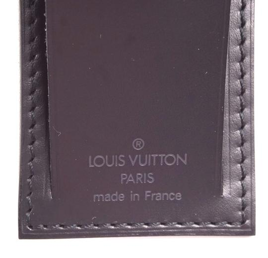Louis Vuitton Discontinued smooth calf Leather small Luggage Tag and Loop Image 4