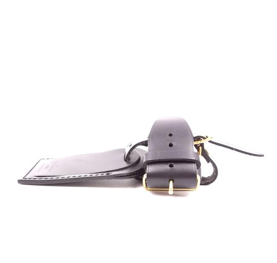 Louis Vuitton Discontinued smooth calf Leather small Luggage Tag and Loop Image 6