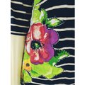 Meadow Rue Multicolor S Cotton Stretch Knit Pullover Floral Appliques 3/4 Dol Tee Shirt Size 6 (S) Meadow Rue Multicolor S Cotton Stretch Knit Pullover Floral Appliques 3/4 Dol Tee Shirt Size 6 (S) Image 3