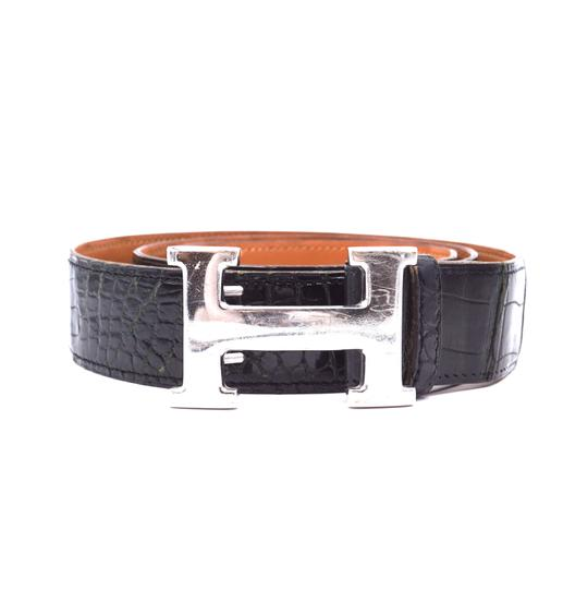 Preload https://img-static.tradesy.com/item/25929733/hermes-32101-black-crocodile-32mm-silver-h-reversible-leather-vintage-adjustable-belt-0-0-540-540.jpg