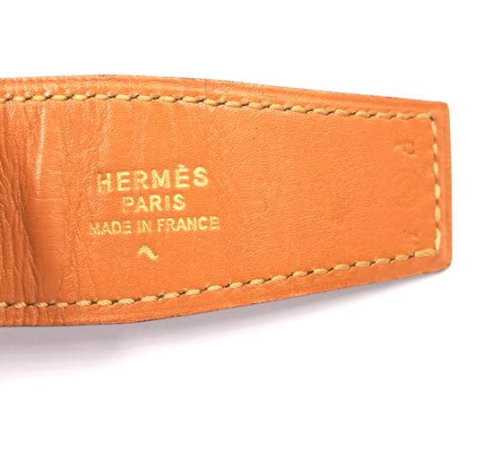 Hermès 32Mm silver H Belt Reversible Belt leather vintage adjustable Image 1