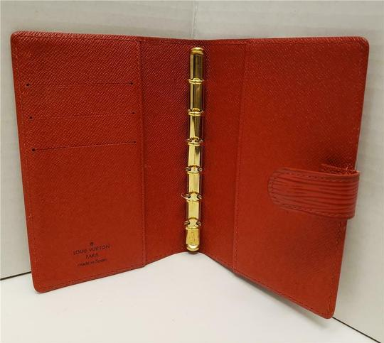 Louis Vuitton Louis Vuitton Agenda PM Day Planner Diary RED Epi Leather, Notepaper Image 2