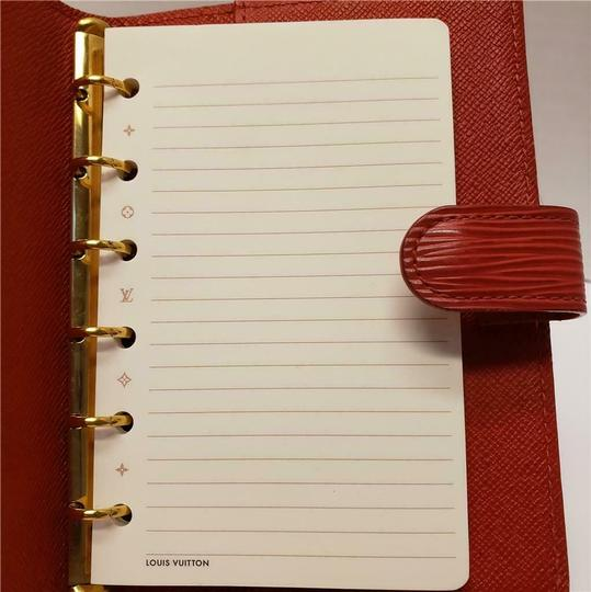Louis Vuitton Louis Vuitton Agenda PM Day Planner Diary RED Epi Leather, Notepaper Image 3