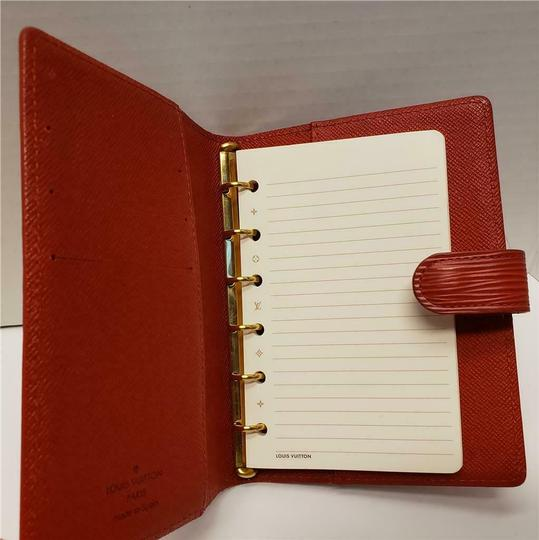 Louis Vuitton Louis Vuitton Agenda PM Day Planner Diary RED Epi Leather, Notepaper Image 4