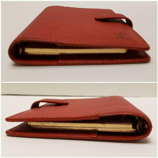 Louis Vuitton Louis Vuitton Agenda PM Day Planner Diary RED Epi Leather, Notepaper Image 5