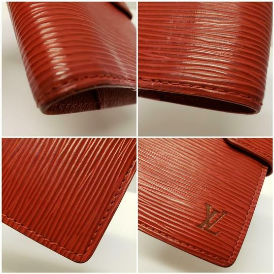 Louis Vuitton Louis Vuitton Agenda PM Day Planner Diary RED Epi Leather, Notepaper Image 6