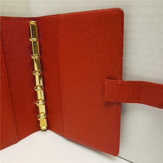 Louis Vuitton Louis Vuitton Agenda PM Day Planner Diary RED Epi Leather, Notepaper Image 9