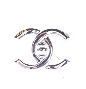 Chanel Ultra Rare CC Timeless Turnlock hardware brooch pin charm