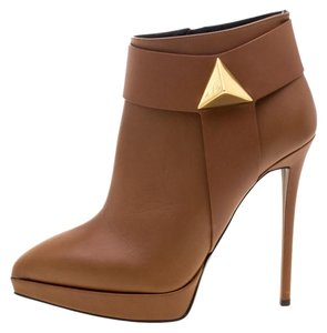 Giuseppe Zanotti Leather Platform Brown Boots