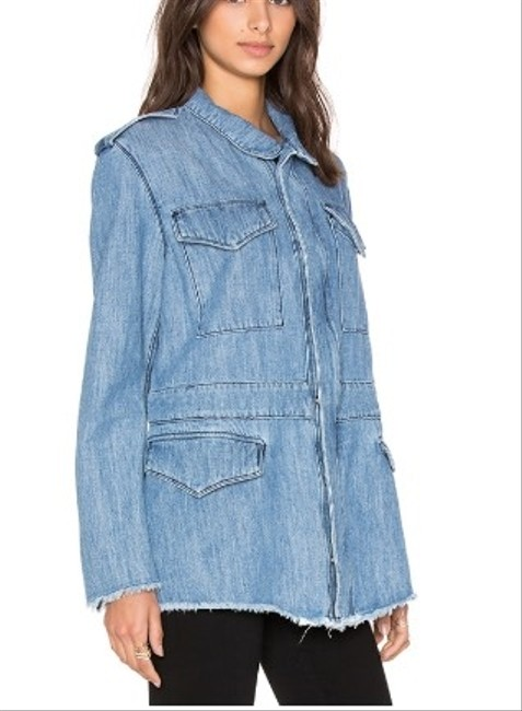 RtA Frayed Denim Womens Jean Jacket Image 1