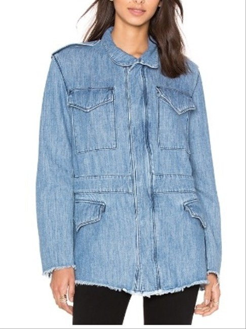 RtA Frayed Denim Womens Jean Jacket Image 2