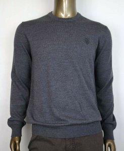 Gucci Medium Gray XL Wool Long Sleeve Crewneck Pullover Sweater 438137 1200 Groomsman Gift