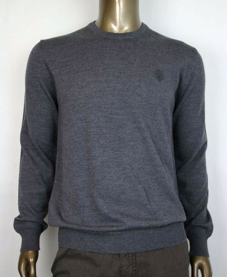 Gucci Medium Gray Wool Long Sleeve Crewneck Pullover Sweater 3xl 438137 1200 Groomsman Gift Image 0