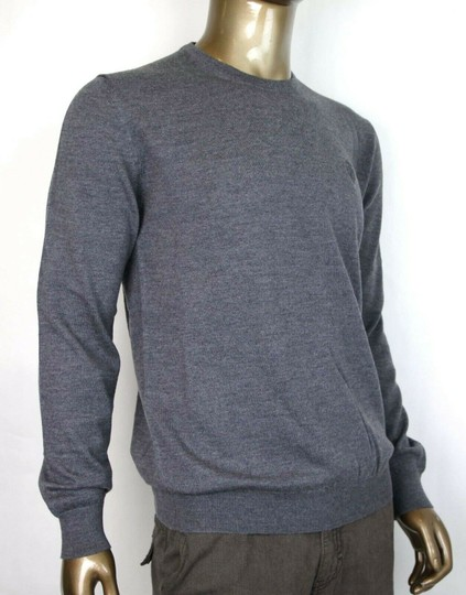 Gucci Medium Gray Wool Long Sleeve Crewneck Pullover Sweater 3xl 438137 1200 Groomsman Gift Image 1