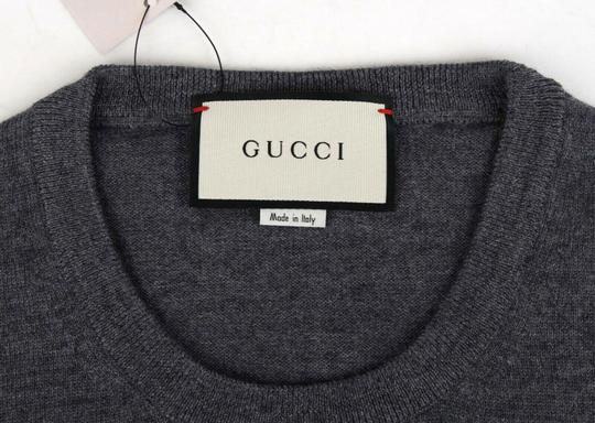 Gucci Medium Gray Wool Long Sleeve Crewneck Pullover Sweater 3xl 438137 1200 Groomsman Gift Image 4