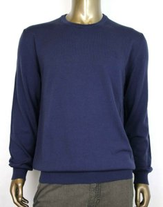 Gucci Dark Blue Wool Long Sleeve Crewneck Pullover Sweater 2xl 438137 4440 Groomsman Gift