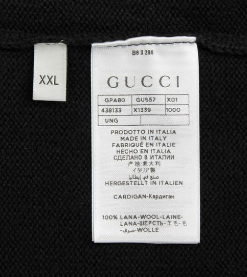 Gucci Black Hysteria W Men's Wool Zippered Jacket W/Hysteria Crest 2xl 438133 Groomsman Gift Image 6