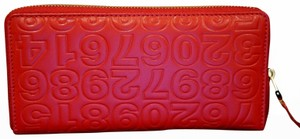 COMME des GARÇONS Comme Des Garcons Long Red Leather Embossed Zip-around Wallet