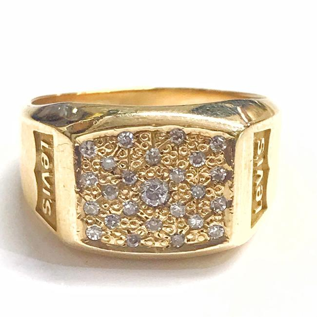 Item - Rare Vintage 14 Karat Yellow Gold and Diamond Ring