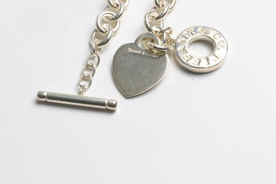Tiffany & Co. Tiffany & Co. Sterling Silver Heart Tag Charm Toggle Necklace Image 4
