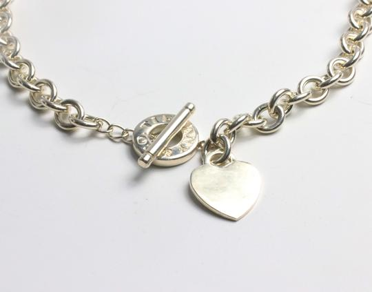 Tiffany & Co. Tiffany & Co. Sterling Silver Heart Tag Charm Toggle Necklace Image 5
