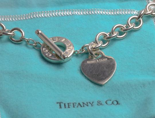 Tiffany & Co. Tiffany & Co. Sterling Silver Heart Tag Charm Toggle Necklace Image 8