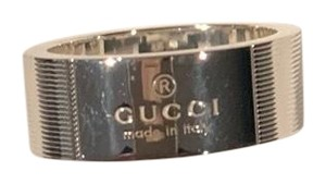 Gucci New Gucci Trademark 0.925 Thin Stripes Logo Ring - Unisex - Size 7