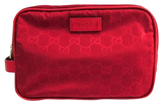 Preload https://img-static.tradesy.com/item/25930462/gucci-red-unisex-nylon-guccissima-zip-around-leather-toiletry-vibrant-cosmetic-bag-0-1-540-540.jpg