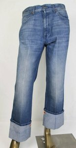 Gucci Blue W Stone Washed Denim Jeans W/Yey Web At Cuff Us 30 475266 4551 Groomsman Gift