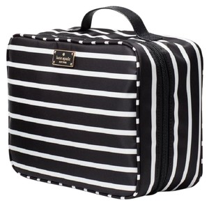 Kate Spade Wilson Road Martie French Stripe Makeup Cosmetic Toiletries Travel Bag