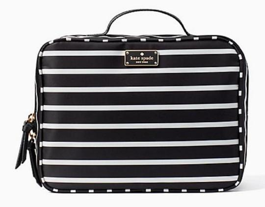 Kate Spade Wilson Road Martie French Stripe Makeup Cosmetic Toiletries Travel Bag Image 1