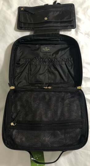 Kate Spade Wilson Road Martie French Stripe Makeup Cosmetic Toiletries Travel Bag Image 10